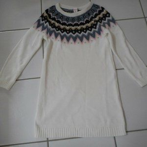 NWT GYMBOREE Fair Isle Sweater Dress XS(4) Ivory